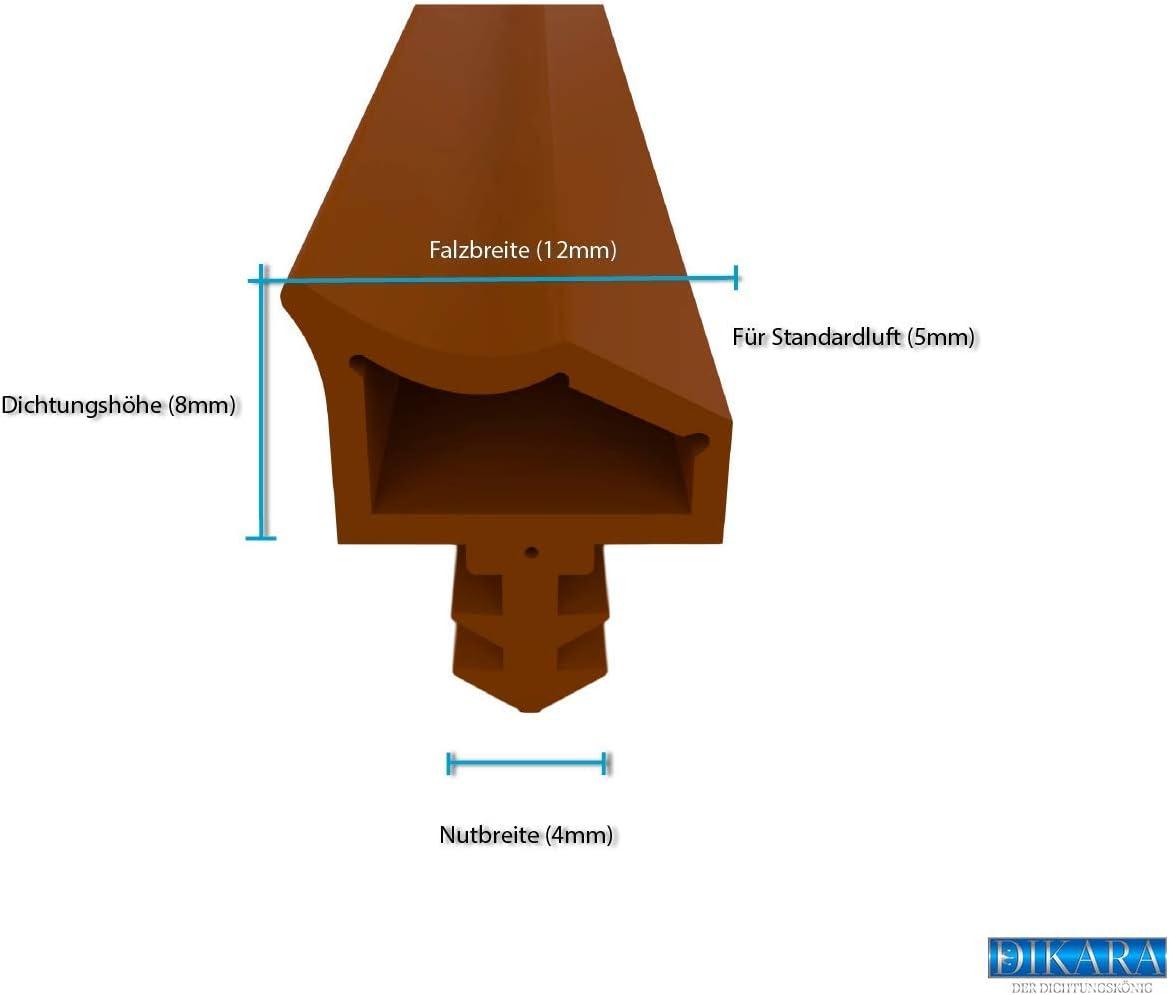 12 mm 7 mm Largeur de coupe 4 mm Profondeur de coupe Chambre Joint de porte avec antidehnungs fils