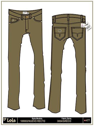LOIS - Pantalon Nuevo Recto Greco, Hombre, Color Verde, Talla 34