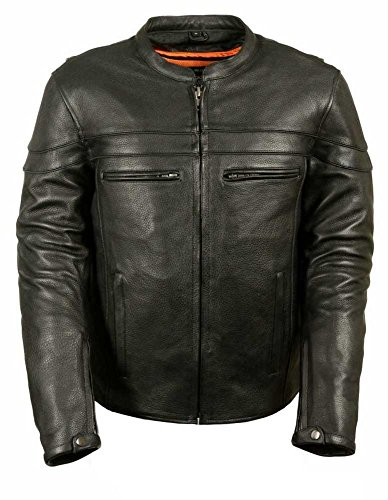 Milwaukee Men's Sporty Scooter Crossover Leather Jacket (...