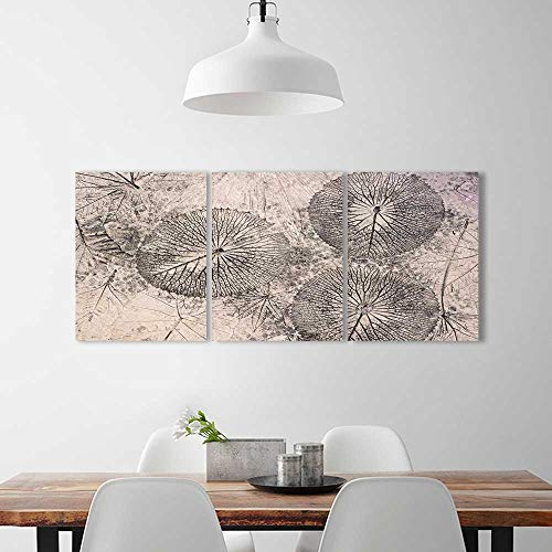 Frameless Paintings 3 Pieces Painting Concrete Floors Designs Leaves to liven up Energize Any Wall Room.