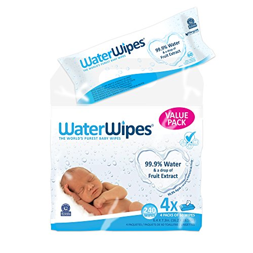 Large Product Image of WaterWipes Sensitive Baby Wipes, 4 Packs of 60 Count (240 Count)