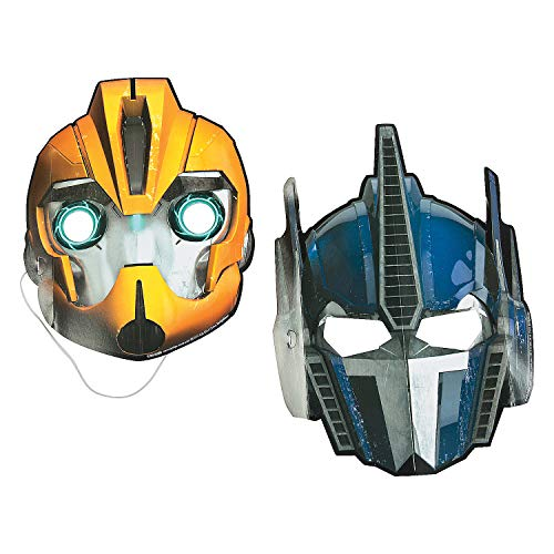 Fun Express - Transformers Masks (8pc) for Birthday - Party Supplies - Licensed Tableware - Misc Licensed Tableware - Birthday - 8 ()