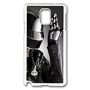 Galaxy Note 4 Case, Creativity Design Daft Punk 4 Print Pattern Perfection Case [Anti-Slip Feature] [Perfect Slim Fit] Plastic Case Hard White Covers for Samsung Galaxy Note 4
