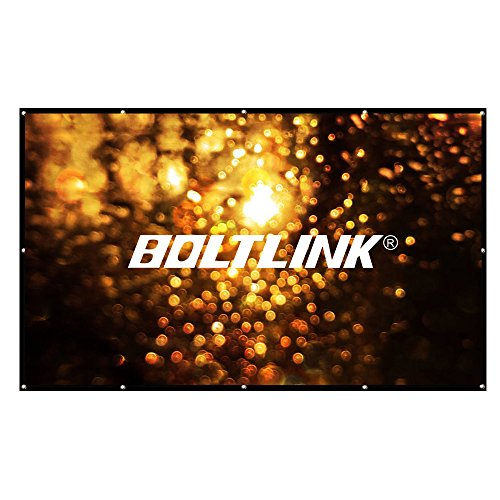 Projector Screen 150 Inch 16:9, Outdoor Portable Movie Screen Support Front and Rear Projection by BOLTLINK