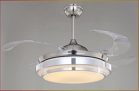 Lighsch ventilatori da soffitto con lampada camera da letto