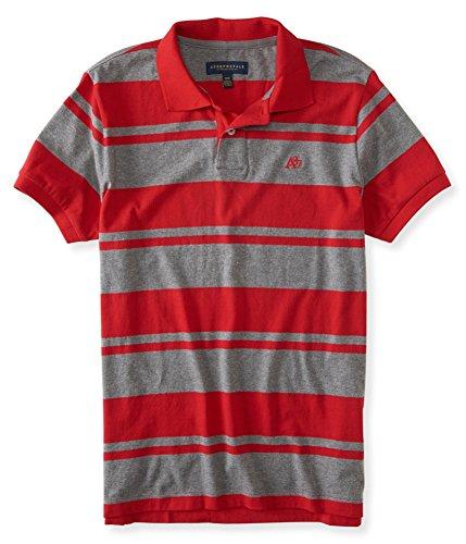 c3544b76 Mens Medium Red Aeropostale Polo Shirt. Aeropostale Mens A87 Striped Rugby  ...
