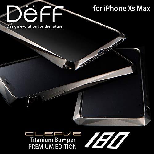 貸す残酷経験的Deff(ディーフ) CLEAVE Titanium Bumper 180 for iPhone XS Max チタンバンパー プレミアムエディション iPhone XS Max用