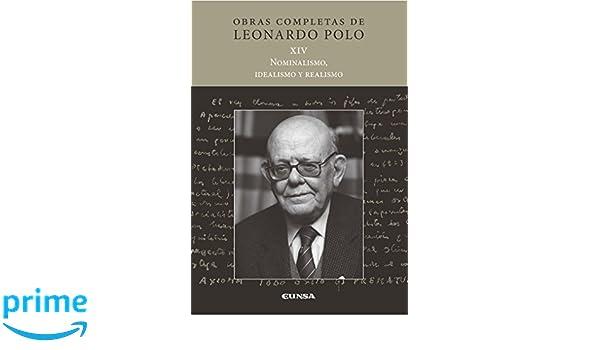 NOMINALISMO, IDEALISMO Y REALISMO Obras completas LP: Amazon.es ...