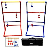 SF17018 Sports Festival Premium Ladder Ball Toss Game Set with 6 Bolas and Carrying Case Outdoor Back Yard Games For Family Reunion Fun