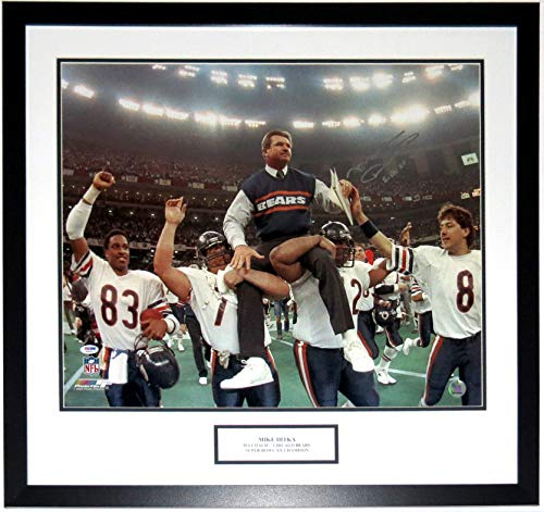 Mike Ditka Signed Chicago Bears Super Bowl 20x24 Photo & SB XX CHAMPS Inscription - PSA DNA COA Authenticated - Professionally Framed & ()