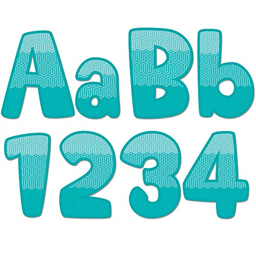 "Creative Teaching Press Ombre Turquoise Maze 4"" Designer Letters (0284)"