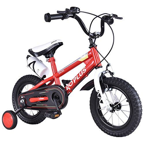 "Goplus 16"" Freestyle Kids Bike Children Bicycle with Training Wheels Perfect Gift for Boys & Girls (Red)"