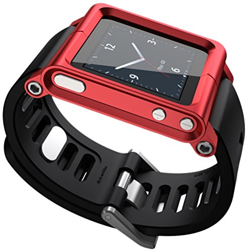 Ocr TM Cool Alumium Watch Band Wrist Strip for iPod Nano 6G Cover Case (Red)