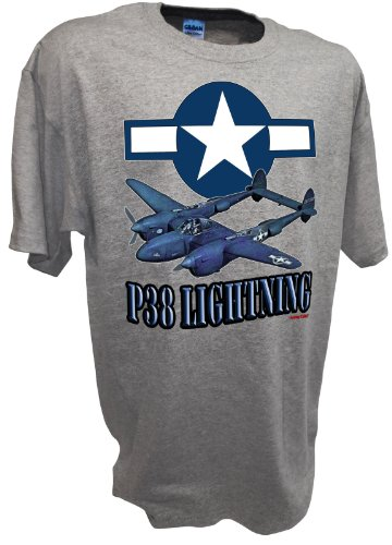 Usaaf Fighter Pilot - P38 Lightning American Airforce Ww2 Fighter Bomber USAAF Airplane Model T Shirt By Achtung T Shirt LLC