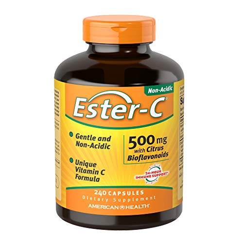 American Health Ester-C with Citrus Bioflavonoids Capsules - Gentle On Stomach, Non-Acidic Vitamin C - 240 Count (120 Servings)