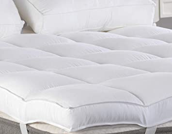 Amazon Com King Mattress Topper Plush Pillow Top Mattress Pad