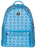 MCM Unisex Light Blue Medium Stark Visetos Backpack Bag