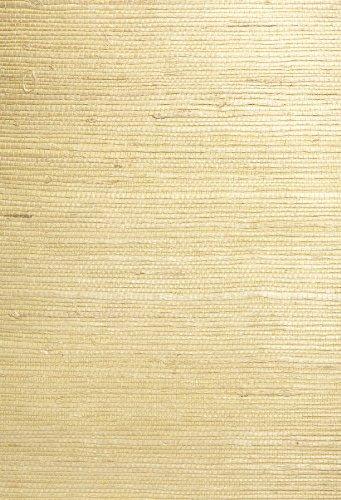 Kenneth James 63-54764 Shan Grass Cloth Wallpaper, Light - Wallpaper Grass Green Cloth