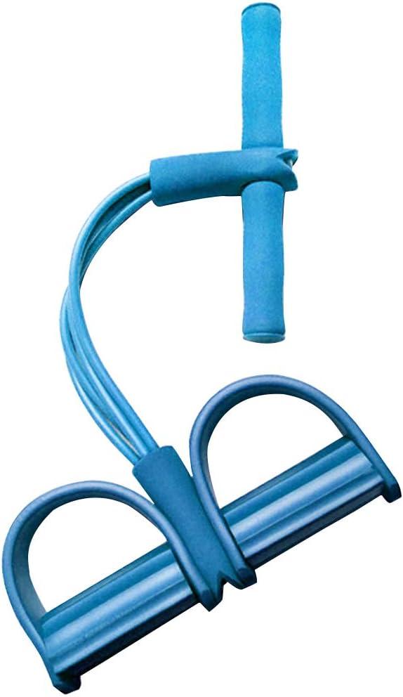LIOOBO Banda de Ejercicio de Resistencia Equipo de Deportes de Yoga para Vientre Abdomen Cintura Brazo Pierna Ejercicio El/ástico Culturismo para Mujeres Hombres Gimnasio en casa Azul