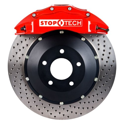 Brembo Ferrari - StopTech 83.307.6800.72 StopTech Big Brake Kit Red/Drilled Front Incl. ST-60 Caliper 380x32mm Rotors Does Not Fit Stock Wheels StopTech Big Brake Kit