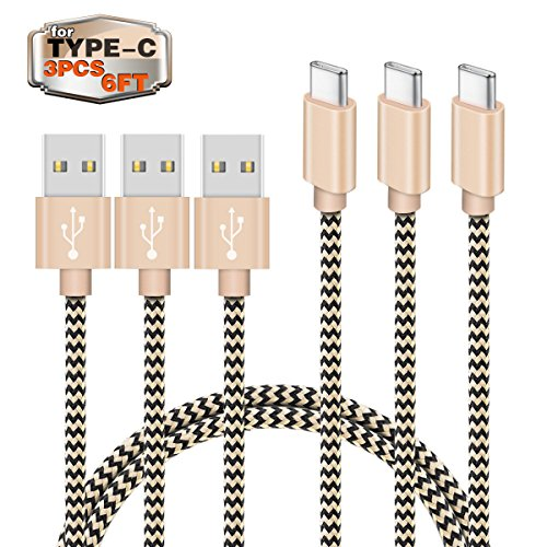 USB C Cable Zeuste Type C to USB Braided Charging Cable 6Ft/1.8M-USB Type C Cable for USB Type-C Devices for LG G5/V20, Nexus 5X/6P, Samsung Galaxy S8, Moto Z, Nintendo Switch and other Devices