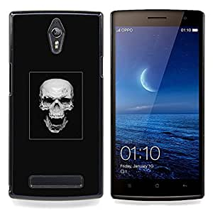Ihec Tech Cráneo malvado de la risa;;;;;;;; / Funda Case back Cover guard / for OPPO Find 7 X9077 X9007
