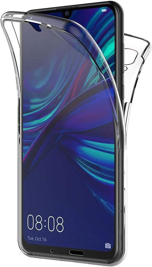 AICEK Cover Huawei P Smart 2019, 360°Full Body Cover P Smart 2019 Silicone Case Molle di TPU Trasparente Sottile Custodia per Huawei P Smart 2019 ...