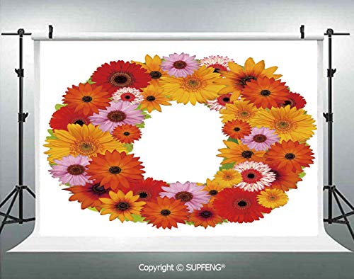 Background Alphabet Themed ABC of Natural World Letter O with Daisies Colors of The Summer Decorative 3D Backdrops for Interior Decoration Photo Studio Props -