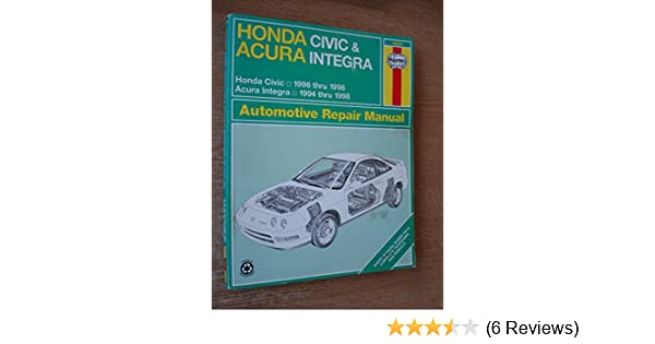 honda civic acura integra automotive repair manual haynes rh amazon com service manual acura tl 2005 service manual acura tl