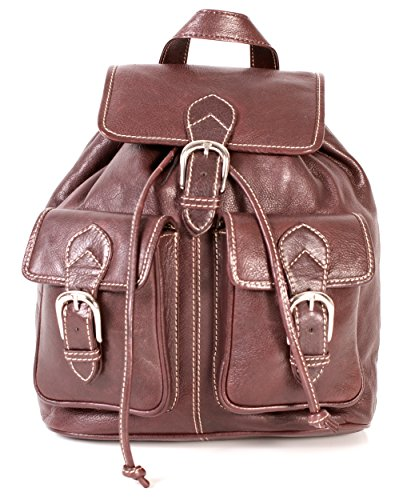 Oxbridge Satchel Shop, Borsa a zainetto donna Marrone marrone medium