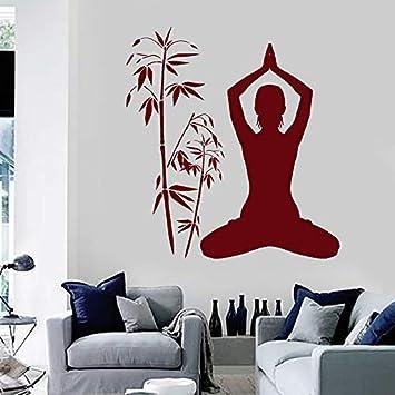 pegatinas de pared Estudio de yoga, meditación, mujer ...