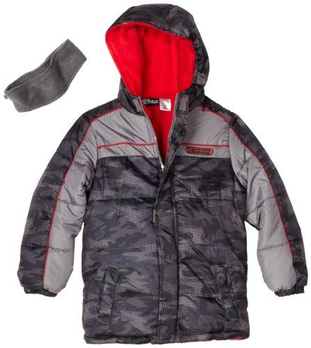 Airwalk Outerwear Big Boys' Digital Camo Print Puffer Jacket With Polar Fleece Lining