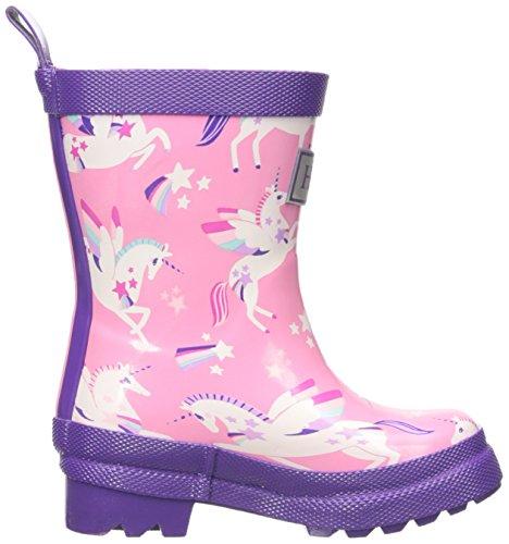 Hatley Printed Rain Boots, Mädchen Arbeits-Gummistiefel Rosa (Winged Unicorns)