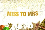 Miss to Mrs Banner - Gold banner - Miss to Mrs Sign - wedding decorations - From Miss to Mrs - Bride to Be Banner - Wedding Photo Prop - Soon to be Mrs - 50th anniversary gifts - Miss to Mrs Bunting