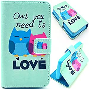 Einzige Slim Fit Leather Case Cover with Stand & Card Slots for Huawei Ascend Y300 (Need Love) with Free Universal Screen-stylus