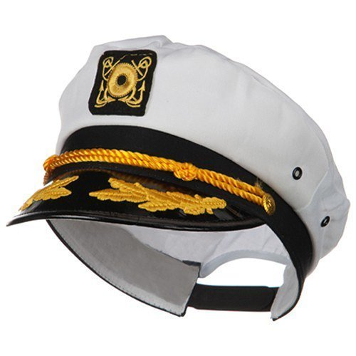 Yacht Boat Captain Hat Sailor Ship Cap White Gold and Gold Aviator Sunglasses by Nicky Bigs Novelties (Image #4)