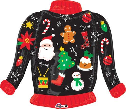 31インチ醜いクリスマスセーターバルーン – 5個   B01LGN6MD8