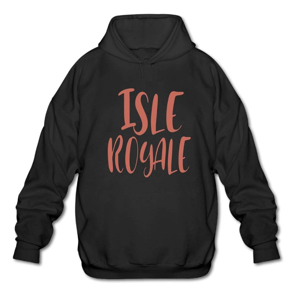 Haoshouru Mens Long Sleeve Cotton Hoodie Isle Royale Sweatshirt