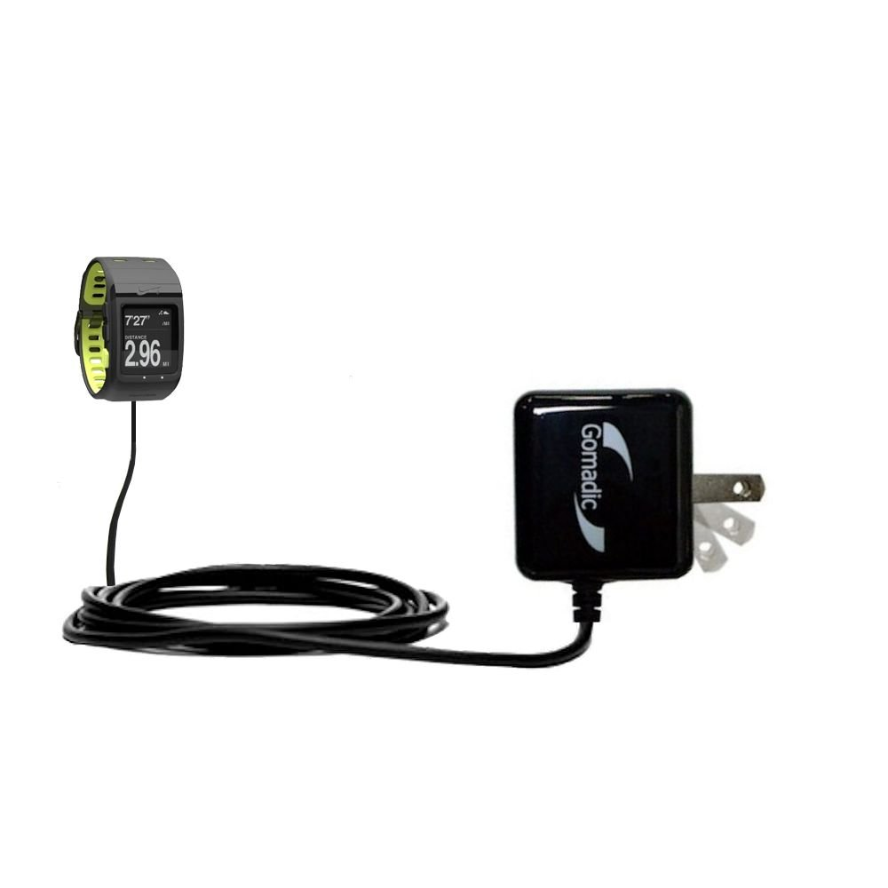 Gomadic High Output Home Wall AC Charger designed for the Nike SportWatch GPS with Power Sleep technology - Intelligently designed with Gomadic TipExchange