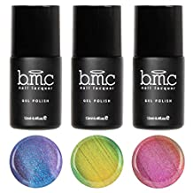 BMC 3pc Iridescent Micro Shimmer Duotone Gel Nail Lacquers - Snake Charmer: Set 2