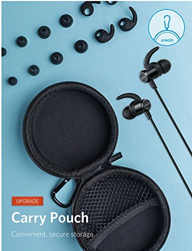 Anker SoundBuds Slim+ Wireless Headphones, Bluetooth 4.1 Lightweight Stereo Earbuds with Customizable Accessories, Sports Headset with Metallic Housing & Built-in Mic (Black) by Anker (Image #5)