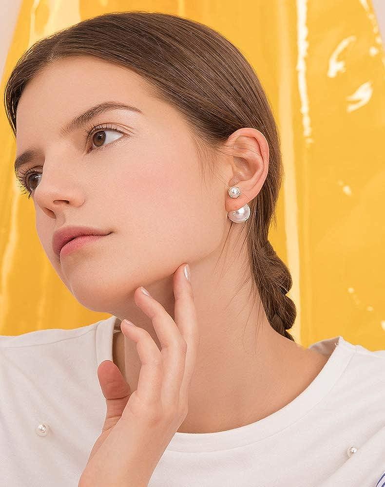 Jindamanee Shop 1Pair Women Lady Crystal Rhinestone Dangle Gold Star Ear Stud Earring Jewelry
