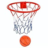 Mini Basketball Hoop - 8-Inch Basketball Hoop With Mini Ball Set Over-The-Door Use Fun Sports Game - Great For Kids, Teens And Adults – By Ecstatic Novelty
