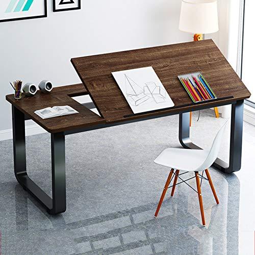 LUXDAMAI Redaccion Table,tiltable Mesas para Ordenador,Grande Dibujo Escritorio VersÁtil Simple Estacion De Trabajo para La Oficina Inicio Pintura-a 140x60x73cm(55x24x29in)