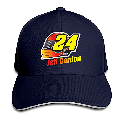 Jeff Gordon Checkered Flag Adjustable Unisex Hats Trucker Hat Sanwich Bill Caps