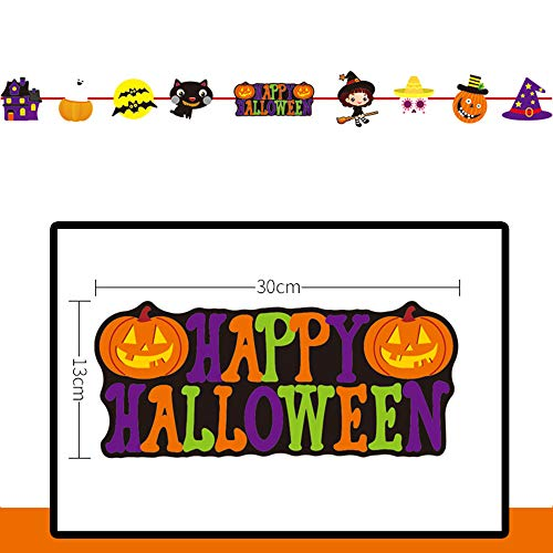 MOKO-PP Pull Flower Theme Long Hanging Bunting Banner for Halloween best (E) -
