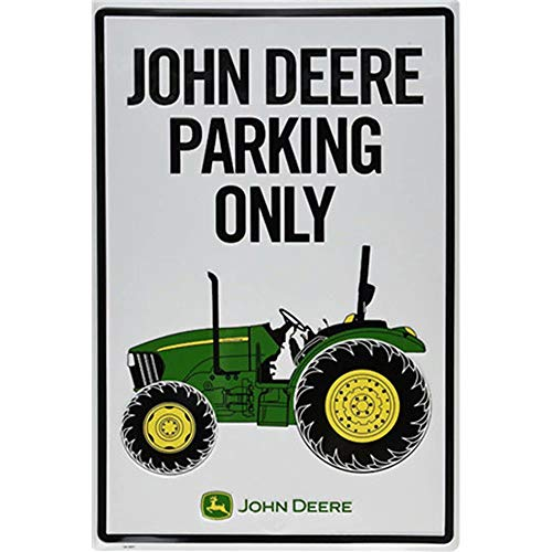 John Deere Parking Sign - CBTsupply Metal Sign John Deere Parking ONLY Car Vintage Tin Wall Poster for Coffee Livingroom 30x20cm Plain Painting