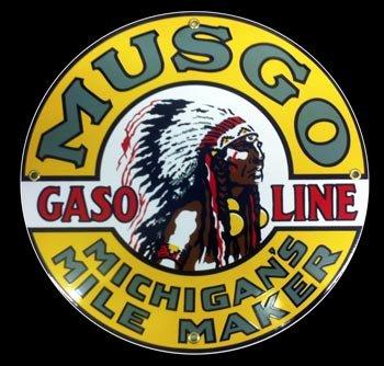 Musgo Gasoline Porcelain Sign