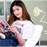 Yellow Usb Rechargeable Clip Fan Flexible Neck Adjustable Wind Speed Provide You Super Convenient Cooling Experience