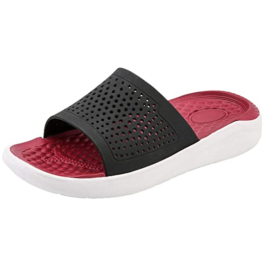 c7867cbb6ce Corriee Slippers for Men Hollow Out Breathable Flats Shoes Mens Casual  Beach Sandals Summer Indoor Outdoor